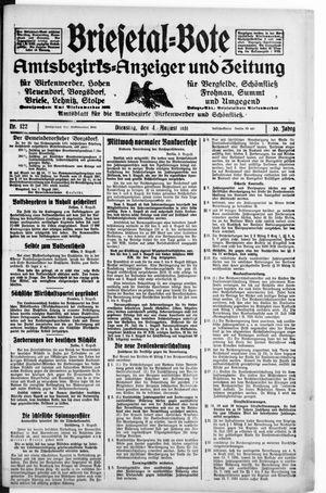 Briesetal-Bote vom 04.08.1931