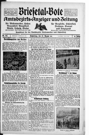 Briesetal-Bote vom 13.08.1931