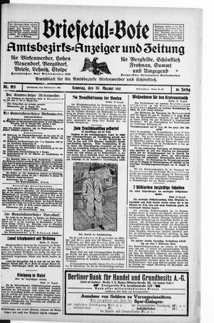Briesetal-Bote vom 16.08.1931