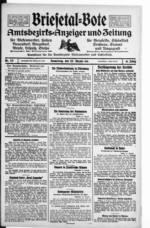 Briesetal-Bote vom 20.08.1931