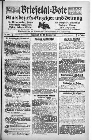 Briesetal-Bote vom 24.12.1932
