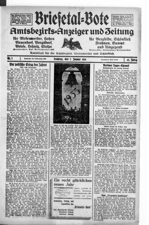 Briesetal-Bote vom 01.01.1933
