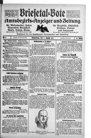 Briesetal-Bote vom 05.01.1933