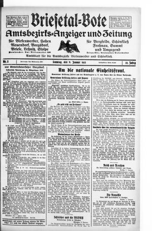 Briesetal-Bote vom 08.01.1933