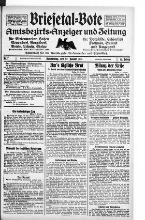 Briesetal-Bote vom 12.01.1933