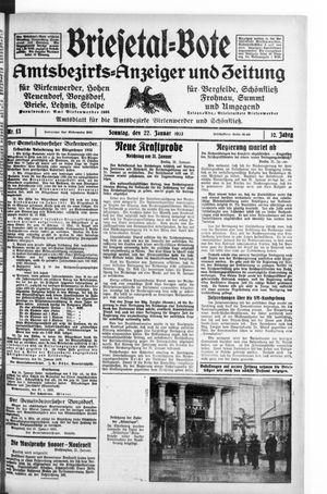 Briesetal-Bote on Jan 22, 1933