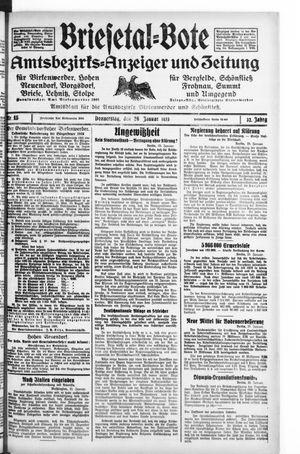 Briesetal-Bote vom 26.01.1933