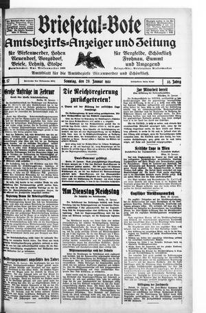 Briesetal-Bote vom 29.01.1933