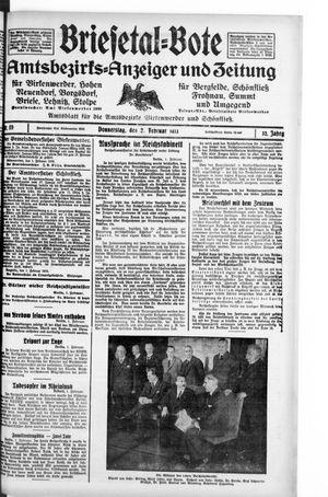 Briesetal-Bote vom 02.02.1933