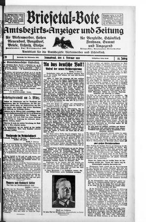 Briesetal-Bote vom 04.02.1933