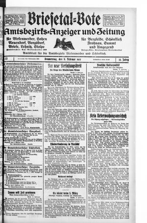 Briesetal-Bote vom 09.02.1933
