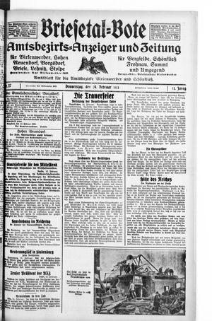 Briesetal-Bote on Feb 16, 1933