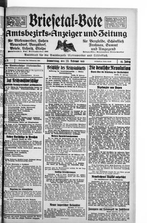 Briesetal-Bote vom 23.02.1933