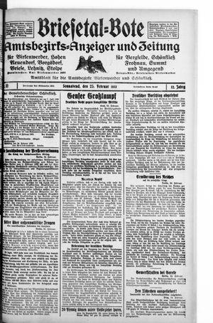 Briesetal-Bote vom 25.02.1933
