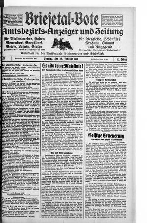 Briesetal-Bote on Feb 26, 1933