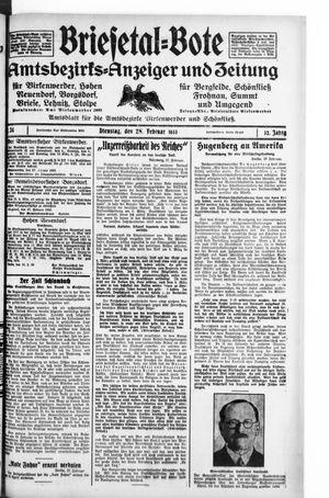 Briesetal-Bote vom 28.02.1933