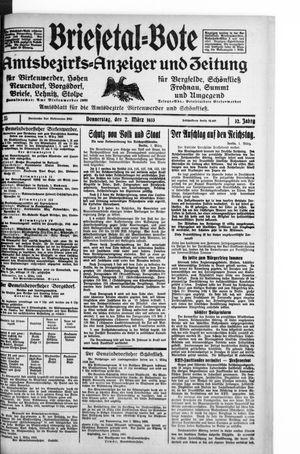 Briesetal-Bote vom 02.03.1933