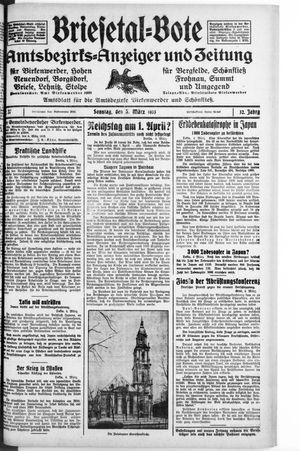 Briesetal-Bote vom 05.03.1933