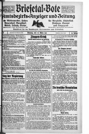 Briesetal-Bote vom 14.03.1933