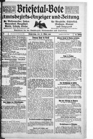 Briesetal-Bote on Mar 16, 1933