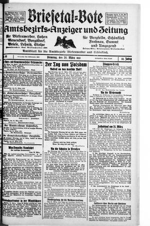 Briesetal-Bote vom 21.03.1933