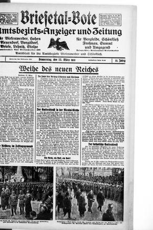 Briesetal-Bote vom 23.03.1933