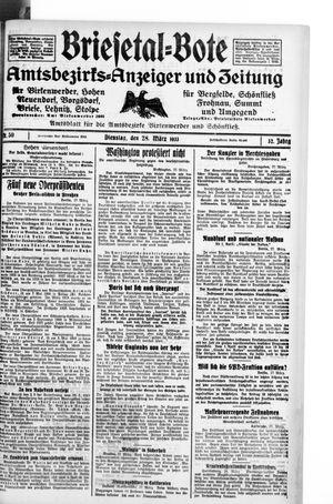 Briesetal-Bote vom 28.03.1933