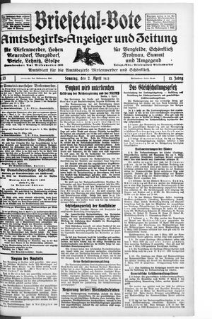 Briesetal-Bote vom 02.04.1933