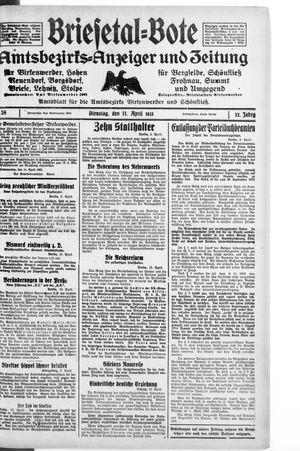 Briesetal-Bote vom 11.04.1933