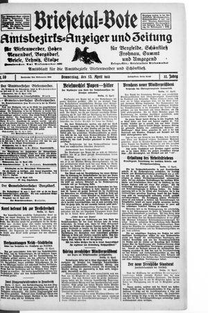 Briesetal-Bote vom 13.04.1933