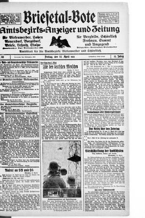 Briesetal-Bote vom 14.04.1933