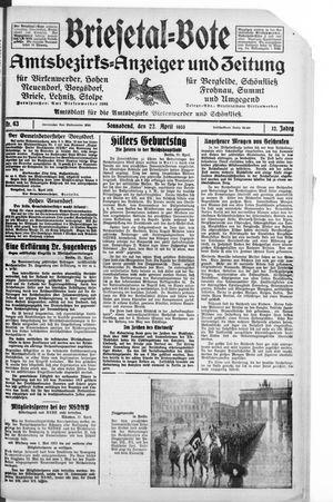 Briesetal-Bote on Apr 22, 1933