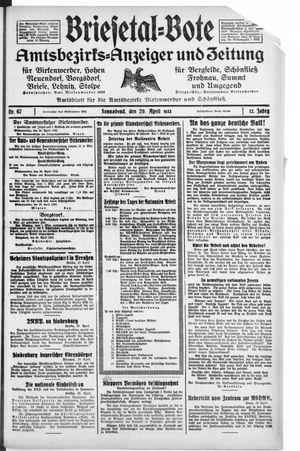 Briesetal-Bote on Apr 29, 1933
