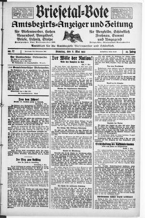 Briesetal-Bote on May 9, 1933