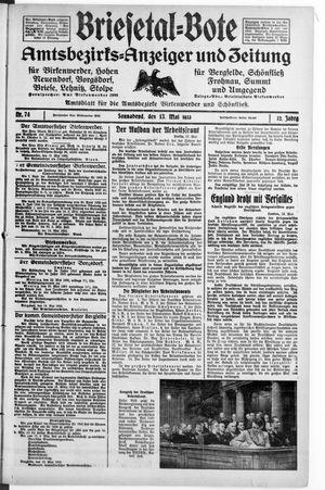 Briesetal-Bote vom 13.05.1933