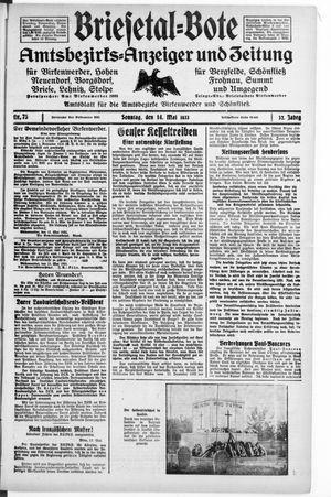 Briesetal-Bote on May 14, 1933