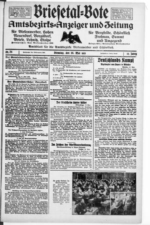 Briesetal-Bote on May 16, 1933
