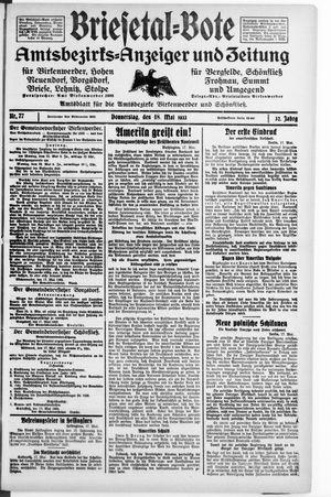 Briesetal-Bote vom 18.05.1933