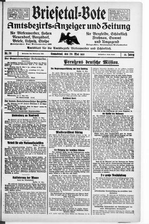 Briesetal-Bote vom 20.05.1933