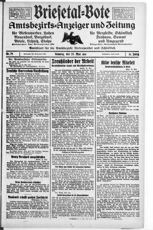 Briesetal-Bote vom 21.05.1933