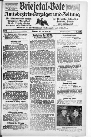 Briesetal-Bote vom 23.05.1933