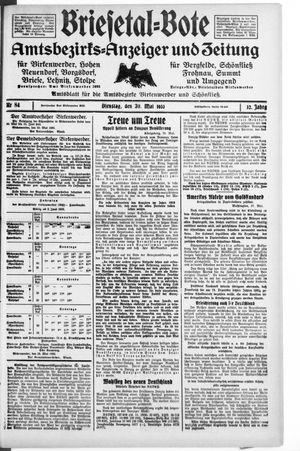 Briesetal-Bote vom 30.05.1933
