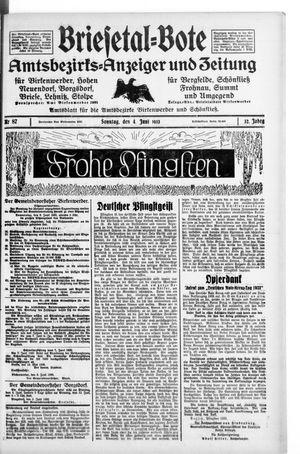 Briesetal-Bote vom 04.06.1933