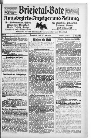 Briesetal-Bote on Jun 10, 1933