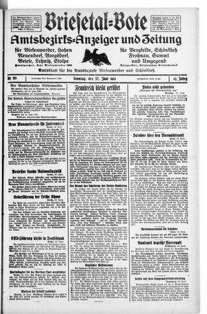 Briesetal-Bote vom 11.06.1933