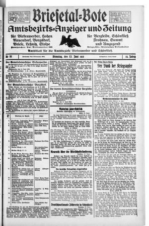 Briesetal-Bote vom 13.06.1933