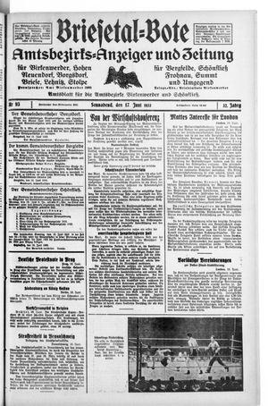 Briesetal-Bote vom 17.06.1933