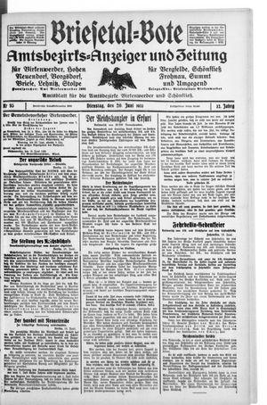 Briesetal-Bote vom 20.06.1933