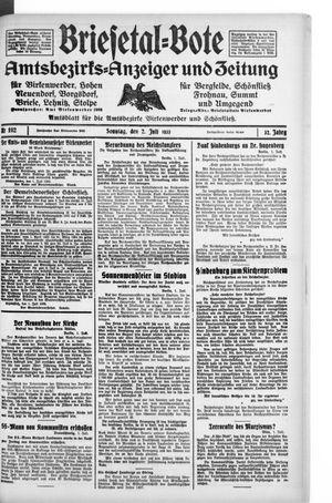 Briesetal-Bote on Jul 2, 1933
