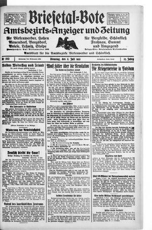 Briesetal-Bote vom 04.07.1933